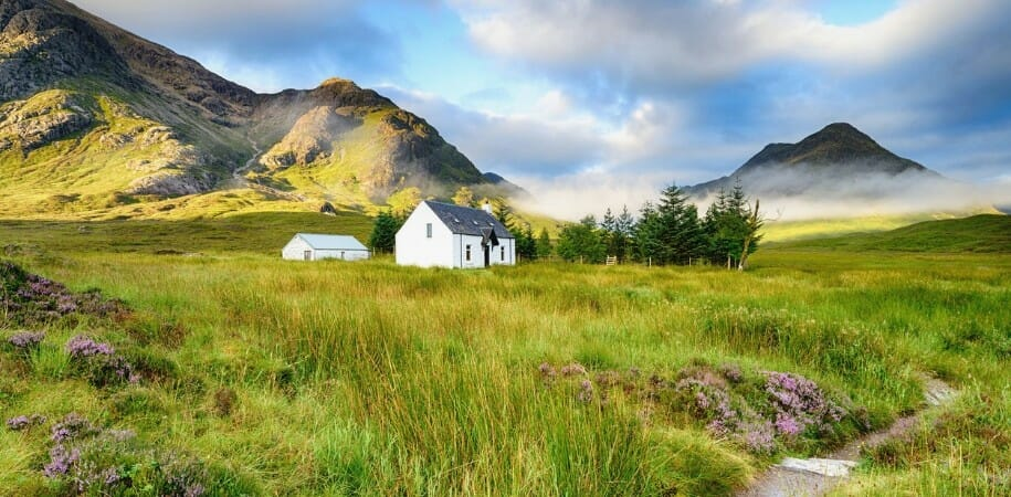 West Highland Way Hiking Trail in Scotland